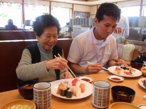 お寿司屋さんへいってきました。