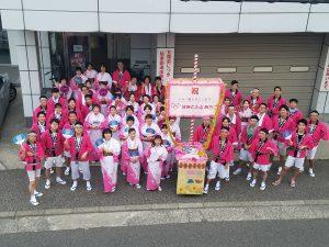 今年も、新潟祭り大民謡流しに総勢77名で参加しました。