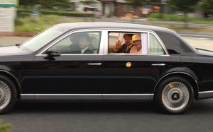 天皇陛下が新潟市にいらっしゃいました。