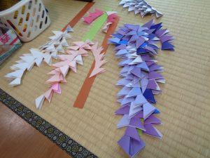 手作り藤の花!